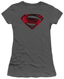 Juniors: Man of Steel - Red And Black Glyph Shirts