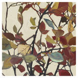 Bordeaux Leaves I - Mini Prints by Rick Novak