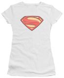 Juniors: Man of Steel - New Solid Shield T-Shirt