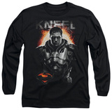 Long Sleeve: Man of Steel - Kneel T-shirts