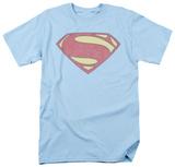 Man of Steel - New MoS Distessed Shield (slim fit) T-shirts