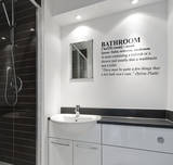 Definition Bathroom - Medium Wall Decal