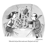 """What did I tell you Best underwater Thai food in the city!"" - New Yorker Cartoon Giclee Print by Joe Dator"