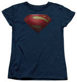 Womans: Man of Steel - MoS Shield T-Shirt