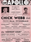 Apollo Theatre  Handbill: Chick Webb, Ella Fitzgerald, Cook and Brown, Wolford's Pets and More Giclee Print