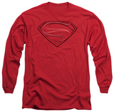 Long Sleeve: Man of Steel - Glph Lines T-Shirt