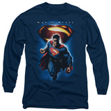 Long Sleeve: Man of Steel - Superman & Symbol Shirts