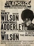 Apollo Theatre: Nancy Wilson, Cannonball Adderley, Duke Pearson, Flip Wilson, and The Impacts; 1968 Posters