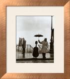 Músico bajo la lluvia Lámina por Robert Doisneau
