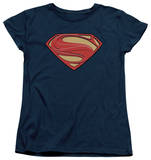 Womans: Man of Steel - New Solid Shield Shirts