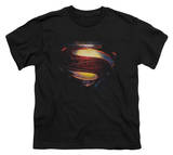 Youth: Man of Steel - Grungy Shield T-Shirt