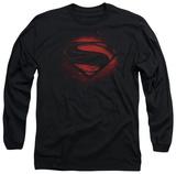 Long Sleeve: Man of Steel - Super Spray T-shirts