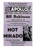 Newspaper Ad Proof Sheet for Apollo Theatre: Bill Robinson in Hot Mikado Posters