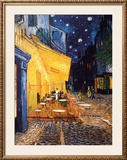 The Caf&#233; Terrace on the Place du Forum, Arles, at Night, c.1888 Art by Van Gogh Vincent