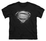 Youth: Man of Steel - Contrast Symbol T-Shirt