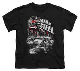 Youth: Man of Steel - Scratchy Steel T-Shirt