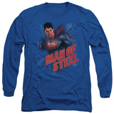 Long Sleeve: Man of Steel - Lightning Power T-shirts