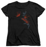 Womans: Man of Steel - Splatter Scowl T-shirts
