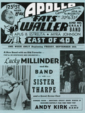 Apollo Theatre  Handbill: Fats Waller, Lucky Millinder, Sister Tharpe Prints