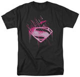 Man of Steel - Pink Splatter T-shirts