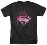 Man of Steel - Pink Splatter T-Shirt