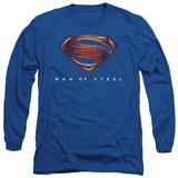 Long Sleeve: Man of Steel - MoS New Logo T-shirts