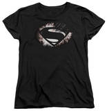Womans: Man of Steel - MoS Shield Fracture T-Shirt