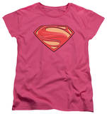 Womans: Man of Steel - New Solid Shield T-shirts
