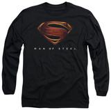 Long Sleeve: Man of Steel - MoS New Logo T-Shirt