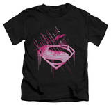 Youth: Man of Steel - Pink Splatter T-shirts