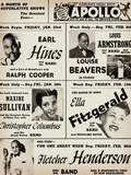Apollo Theatre: Earl Hines, Louis Armstrong, Ella Fitzgerald, Fletcher Henderson and More Reproduction procédé giclée