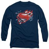 Long Sleeve: Man of Steel - Americas Hero T-shirts