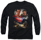 Long Sleeve: Man of Steel - Kal El And Zod T-Shirt