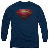 Long Sleeve: Man of Steel - MoS Shield - T-shirt
