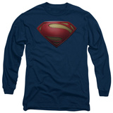 Long Sleeve: Man of Steel - MoS Shield T-shirts