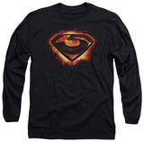 Long Sleeve: Man of Steel - Glowing Zod Shield Shirts