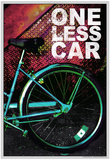 Bicycle - One Less Car Poster Print