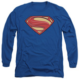 Long Sleeve: Man of Steel - New Solid Shield Shirts
