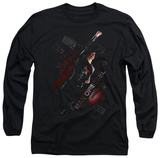 Long Sleeve: Man of Steel - Flying T-shirts