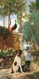 Panneau décoratif aux chien et Prints by Charles Dugasseau