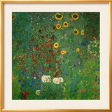 Farm Garden with Sunflowers, c.1912 Poster by Klimt Gustav
