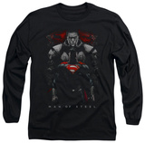 Long Sleeve: Man of Steel - Man Behind T-Shirt