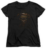 Womans: Man of Steel - MoS Glyph Shield Shirt