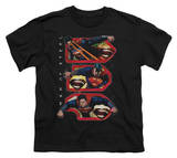 Youth: Man of Steel - Tri Supes T-shirts
