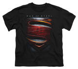 Youth: Man of Steel - Large Shield T-shirts