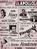 Apollo Theatre: Earl Hines, Louis Armstrong, Ella Fitzgerald, Fletcher Henderson and More Prints