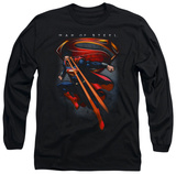 Long Sleeve: Man of Steel - Symbolic Superman T-Shirt