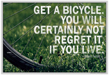 Mark Twain Bicycle Quote Poster Posters
