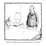 """Mommy usually reads me a story, then slips me a twenty."" - New Yorker Cartoon Premium Giclee Print by Matthew Diffee"