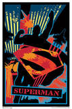 Superman Shield Blacklight Movie Poster Poster